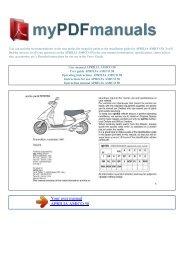 User manual APRILIA AMICO 50 - 1