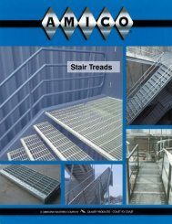 Stair Treads - AMICO Grating