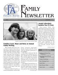 FA Family news 10/98 - Fanconi Anemia Research Fund