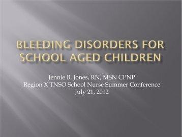 Severity Factor Level Bleeding Symptoms - Children's Medical ...