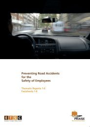 Preventing Road Accidents for the Safety of Employees - ETSC