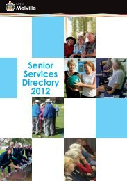 Senior Services Directory 2012 - City of Melville