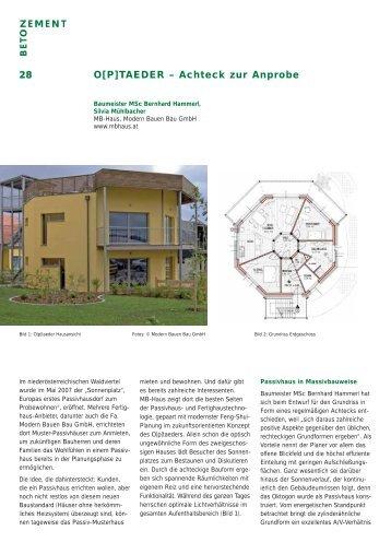 Anprobe magazine for Bauen modern magazin