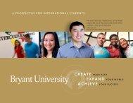 A PROSPECTUS FOR INTERNATIONAL ... - Bryant University