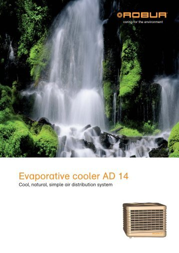 Evaporative cooler AD 14 - Robur