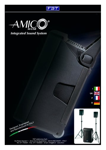 AMICO 10 USB OWNERS.cdr - FBT