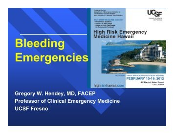 Bleeding Emergencies