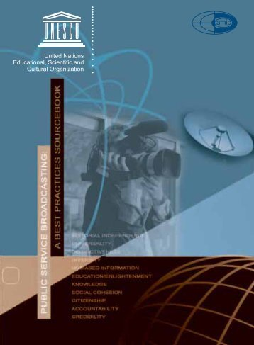 a best practices sourcebook - unesdoc - Unesco