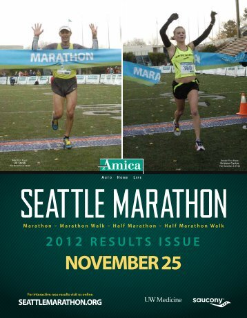 2012 RESULTS ISSUE - Seattle Marathon
