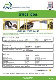 lower your eftpos charges - Australian Meat Industry Council