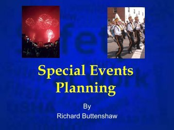 Special Events Planning - Alabama Municipal Insurance Corporation