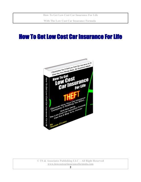 How To Get Low Cost Car Insurance For Life New Car Purchase