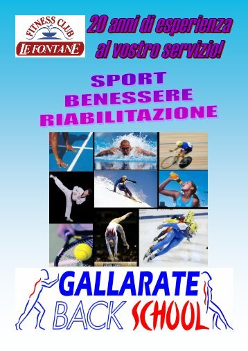 Download the PDF - Fitness Club Le Fontane Gallarate