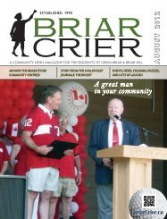 A great man in your community - Briar Crier
