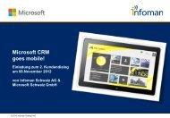 Einladung zum 2. Kundendialog von Infoman & Microsoft - Amiando