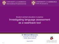 Investigating language assessment as a washback tool - Amiando