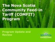 The Nova Scotia Community Feed-in Tariff (COMFIT ... - Amiando