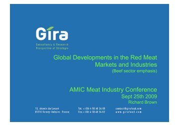 Global Developments in the Red Meat Markets and Industries AMIC ...
