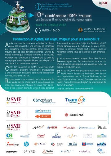 10e conférence itSMF France - PIXEL STUDIO