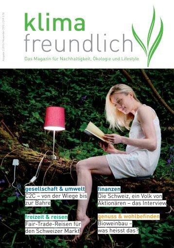 ökologisch – nachhaltig – gut - Klimafreundlich Magazin