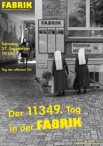 in der FABRIK - Keramikwerkstatt in der Fabrik Freiburg - Fabrik e.V.