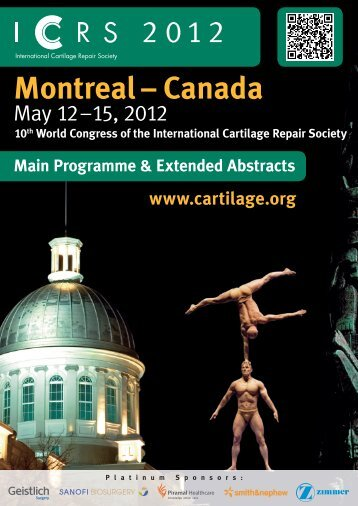 Montreal – Canada - International Cartilage Repair Society