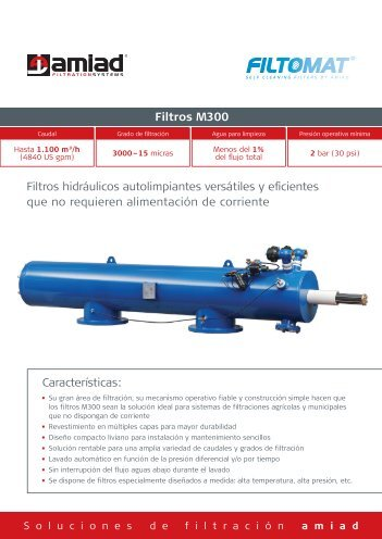 Filtros M300 - Amiad