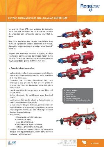 filtros automátcos de mallas amiad serie saf - Regaber, Riegos Iberia