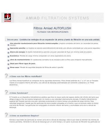 filtros Amiad Autoflush