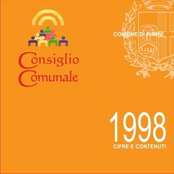 Resoconto generale delle attività del Consiglio ... - Comune di Rimini