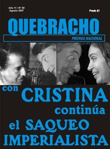 Numero 60 - Con Cristina continua el saqueo ... - MPR Quebracho