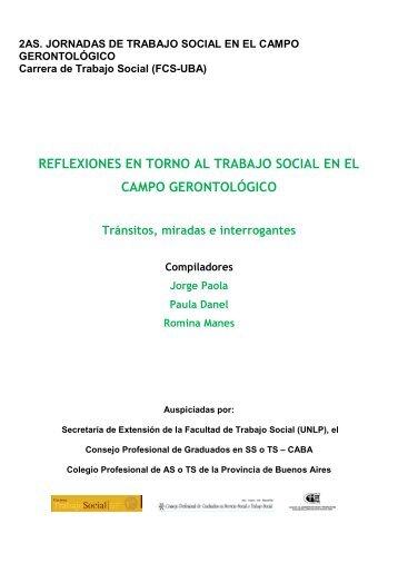 Reflexiones en torno al trabajo social en el campo gerontológico