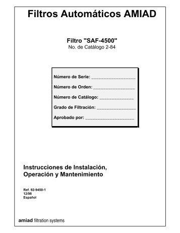 Filtros - Amiad Saf4500