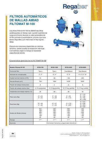 filtros automáticos de mallas amiad filtomat m-100 - Regaber ...