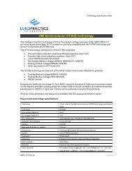 AMI Semiconductor I2T30(E) technology - Europractice-IC