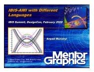 IBIS-AMI with Different Languages IBIS-AMI with Different Languages