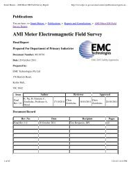 AMI Meter Electromagnetic Field Survey - Silver Spring Networks
