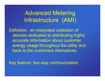 Advanced Metering Infrastructure (AMI) - EERE