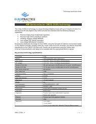 AMI Semiconductor CMOS C035U technology - Europractice-IC