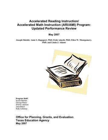 Accelerated Reading Instruction/ Accelerated Math Instruction (ARI ...