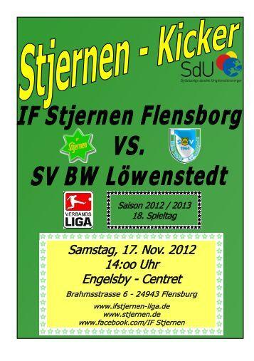 SV Blau-Weiß Löwenstedt - IF Stjernen Ligamannschaft