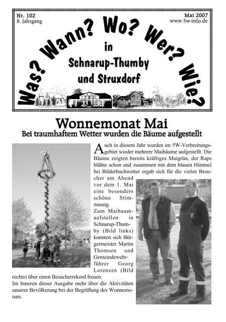 Heft Mai 2007 - Wann? Wo? Wer? Wie? in Schnarup-Thumby