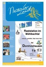 Mitteilungsblatt Ausgabe 18 - Verbandsgemeinde Nassau