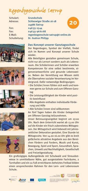 Regenbogenschule Satrup - Ganztägig Lernen - Schleswig-Holstein