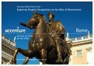 Accenture Global Cities Forum 2008 - Rome Report