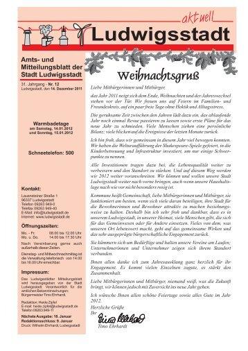 Amts- und Mitteilungsblatt der Stadt Ludwigsstadt