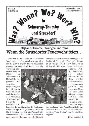 November 2007 - Wann? Wo? Wer? Wie? in Schnarup-Thumby