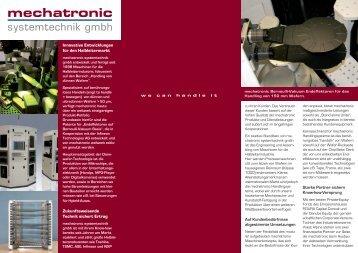 Flyer - mechatronic systemtechnik GmbH