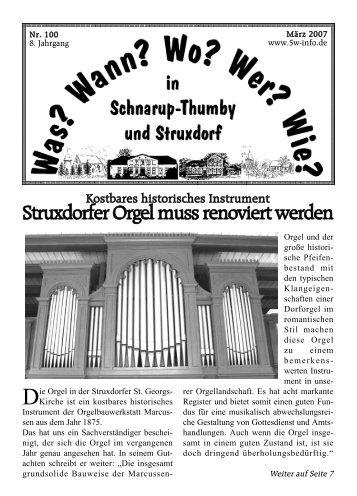 WWWWW März 2007 - Wann? Wo? Wer? Wie? in Schnarup-Thumby