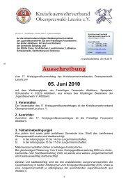 17. Kreisjugendfeuerwehrtag am 05. Juni 2010 in ... - KFV-OSL